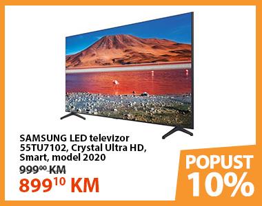 SAMSUNG LED televizor 55TU7102, Crystal Ultra HD, Smart, model 2020