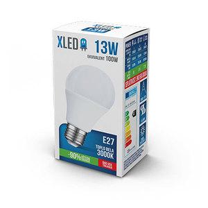 XLED E27 -13W, 220V, Toplo bela, 3000K, Led Sijalica