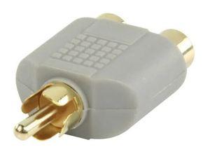 Bandridge BAP124, audio adapter RCA m - 2XRCA ž