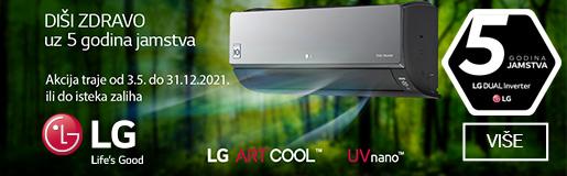 LG klime godina jamstva 999 kn montaža
