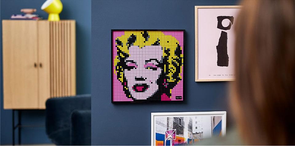 Lego Marilyn Monroe umjetnost i dizajn