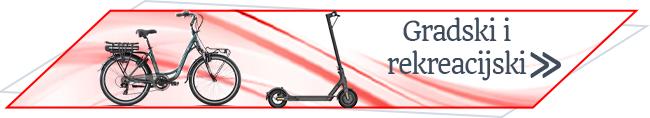 gradski i rekreacijski električni bicikli i romobili