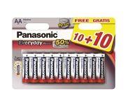 PANASONIC baterije LR6EPS/20BW 10+10F