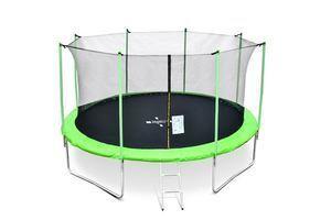 Legoni trampolin FUN sa zaštitnom mrežom i stepenicama, 366cm-zeleni