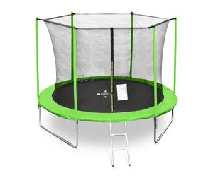 Legoni trampolin FUN sa zaštitnom mrežom i stepenicama, 305cm-zeleni