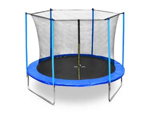 Legoni trampolin FUN sa zaštitnom mrežom i stepenicama, 305cm-plavi