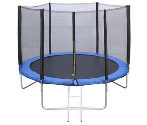 Trampolin 244 cm sa zaštitnom mrežom i stepenicama
