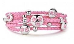Narukvica Pink CZ Pink 3x Flower 79016