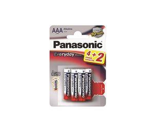 PANASONIC baterije LR03EPS/6BP 4+2F, Alkaline Everyday Power
