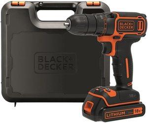 Black+Decker BDCDC18K akumulatorska bušilica - odvijač (1 baterija, punjač, kofer)