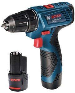 Bosch Professional GSR 120-LI akumulatorska bušilica/odvrtač (2x 2,0 Ah, GAL 1210 CV, kofer)