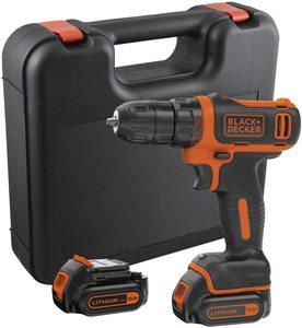 Black+Decker BDCDD12KB akumulatorska bušilica-odvijač (2x1.5 Ah, kofer)