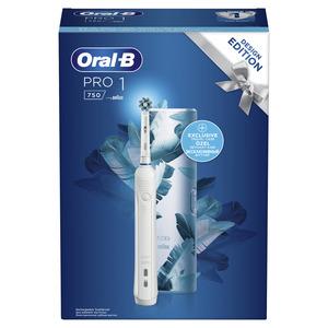 OralB PRO1 750 WHITE + Travel Case električna četkica za zube
