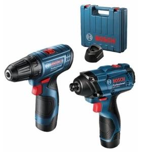 Bosch Professional GSR 120-Li aku bušilica + GDR 120-Li udarni odvrtač set alata (2x2.0 Ah, punjač, kofer)